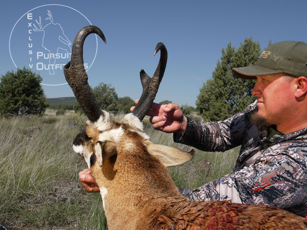 Cody was extremely happy to kill such a great pronghorn on the last day.