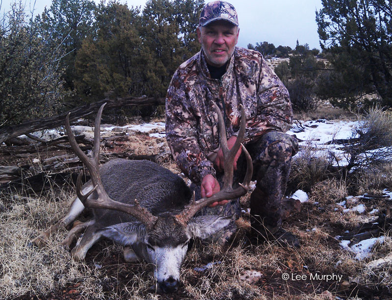 Brad with his well deserved archery mule deer trophy.