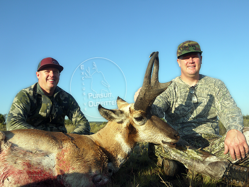Chris & Shane Wright holding The Heavy Buck.