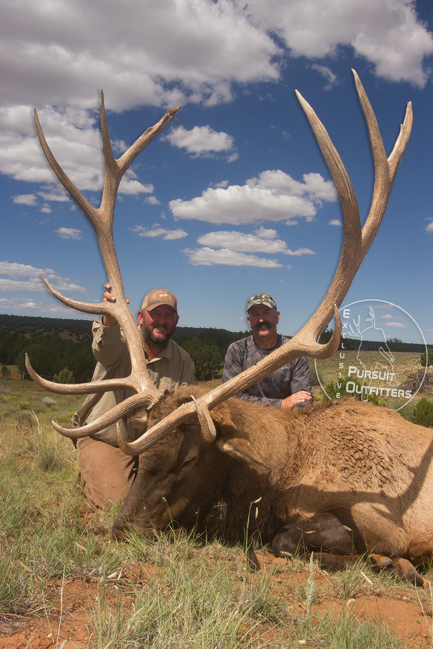 Jimmy Hoffman (EPO Guide) & Joel happily posing with this big bull.