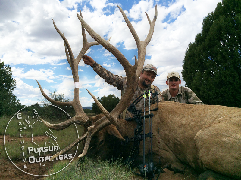 Jason & Logan with Jason's 408 Gross Arizona Bull Elk.