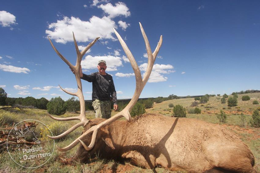 Joe with his 383 inch Big Arizona Bull Elk.