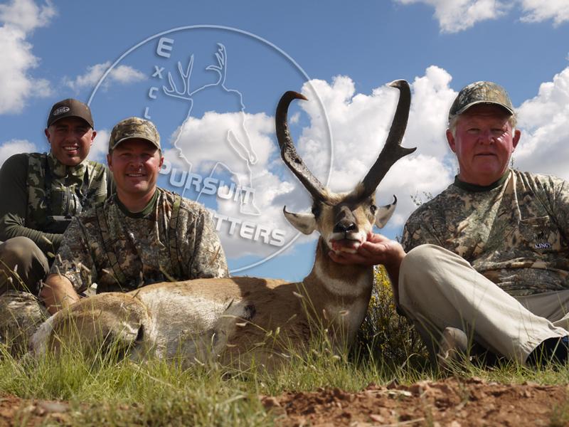 Mark, Ty & Craig with Mark's tank Arizona Pronghorn Antelope.